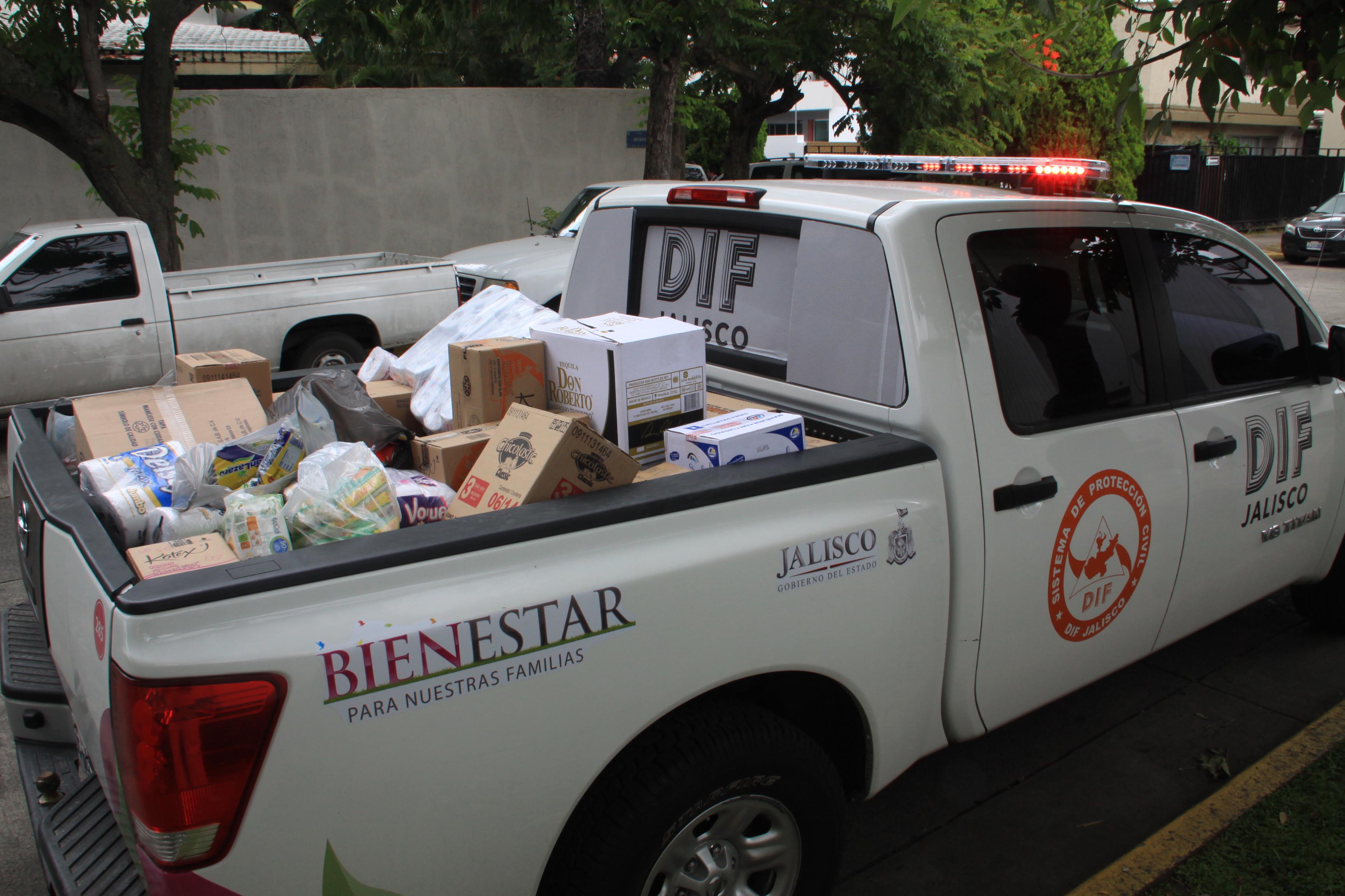 DIF Jalisco recibe donación de la Policía Federal para damnificados