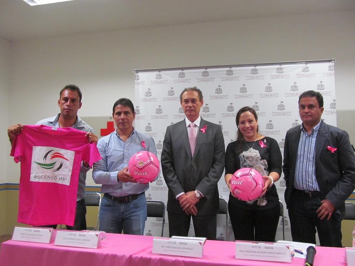 SSJ y Leones Negros lanzan la campaña Balón Rosa, contra cáncer de mama