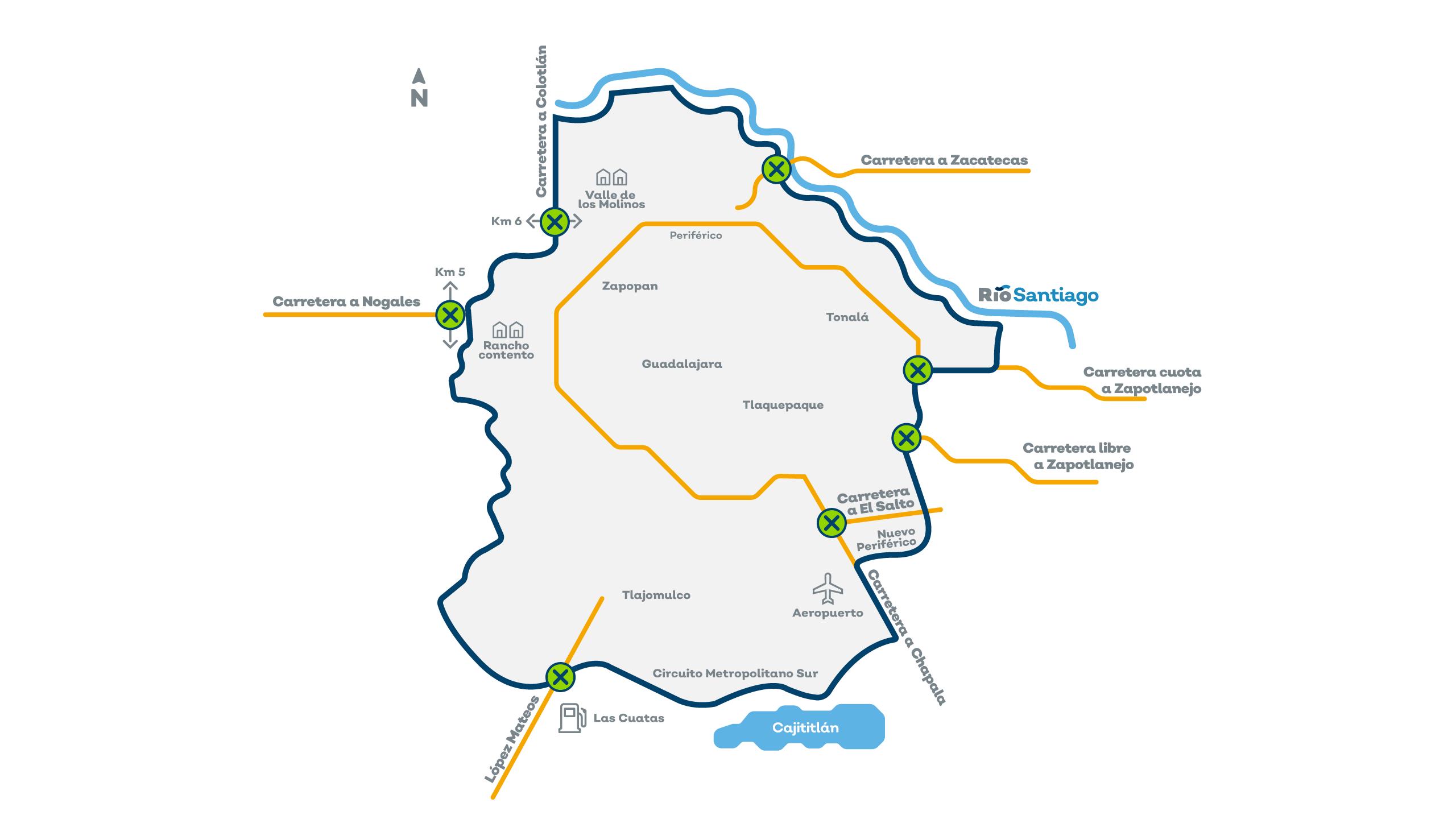 Mañana inician las restricciones para el transporte de carga pesada en el Área Metropolitana de Guadalajara (AMG)
