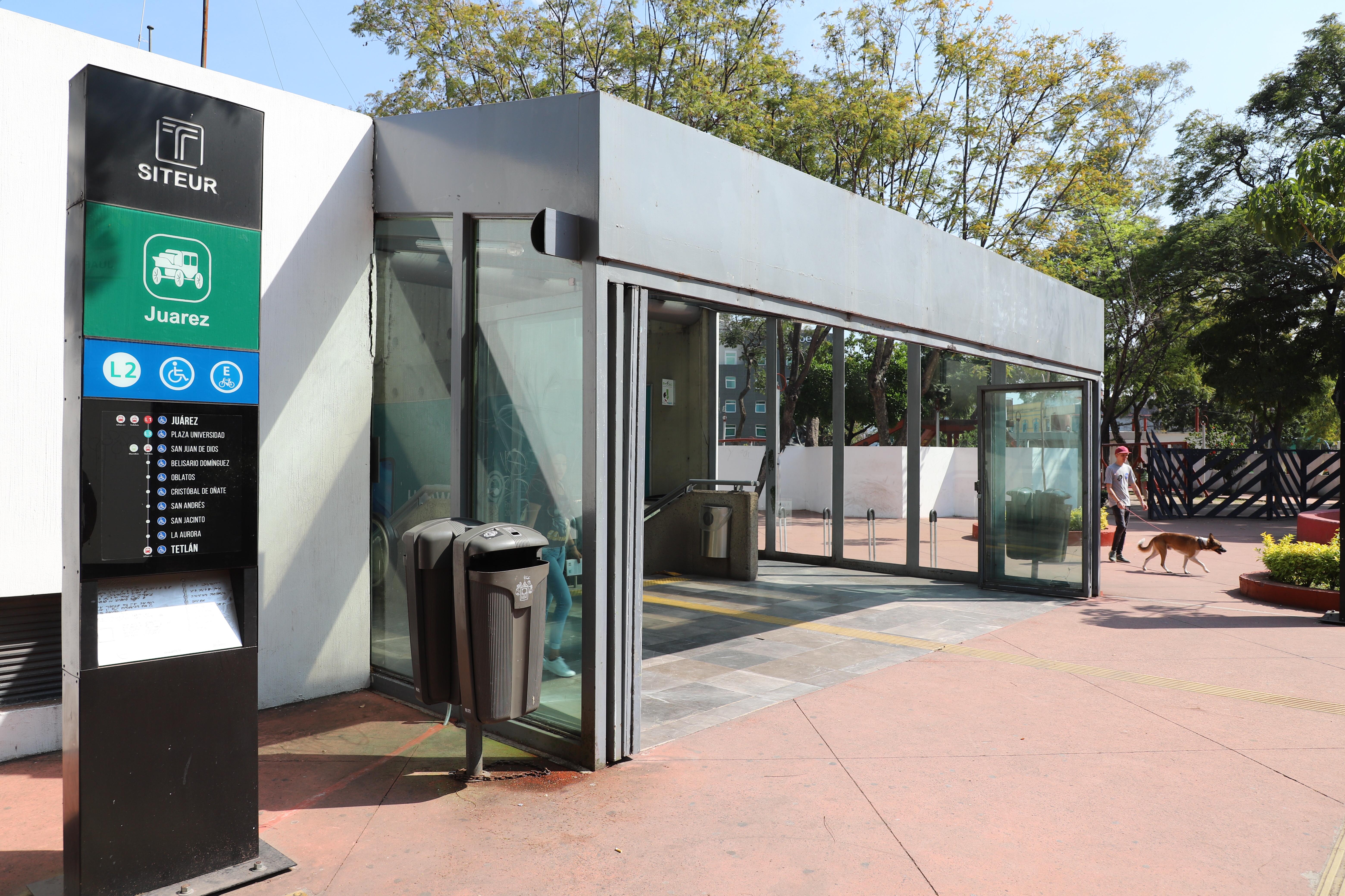 SITEUR continuará con la instalación de escaleras eléctricas en la estación Juárez del Tren Ligero