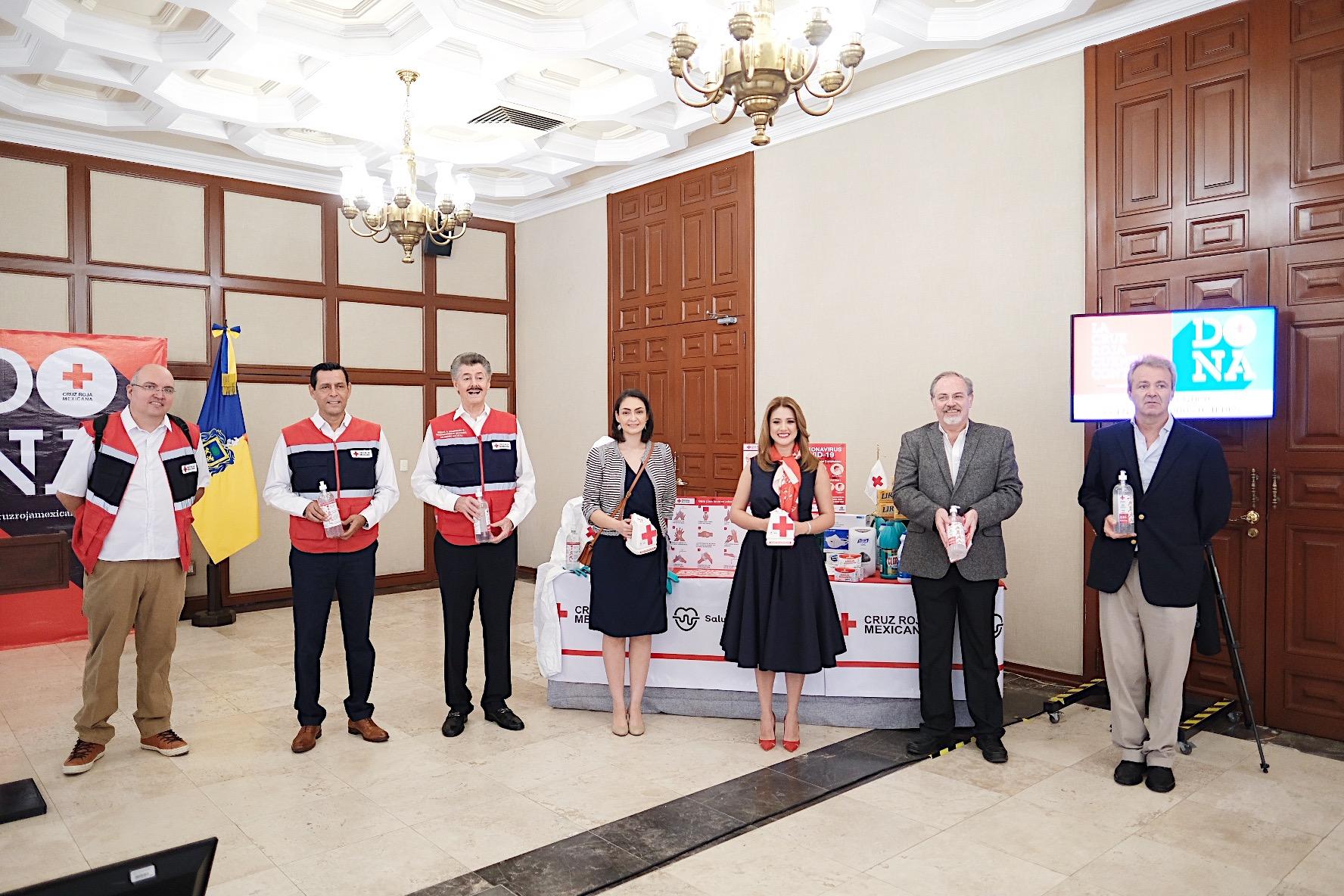 Gobierno del Estado da banderazo de arranque a la Colecta anual de la Cruz Roja en Jalisco, este año la institución se prepara para brindar apoyo ante el COVID-19