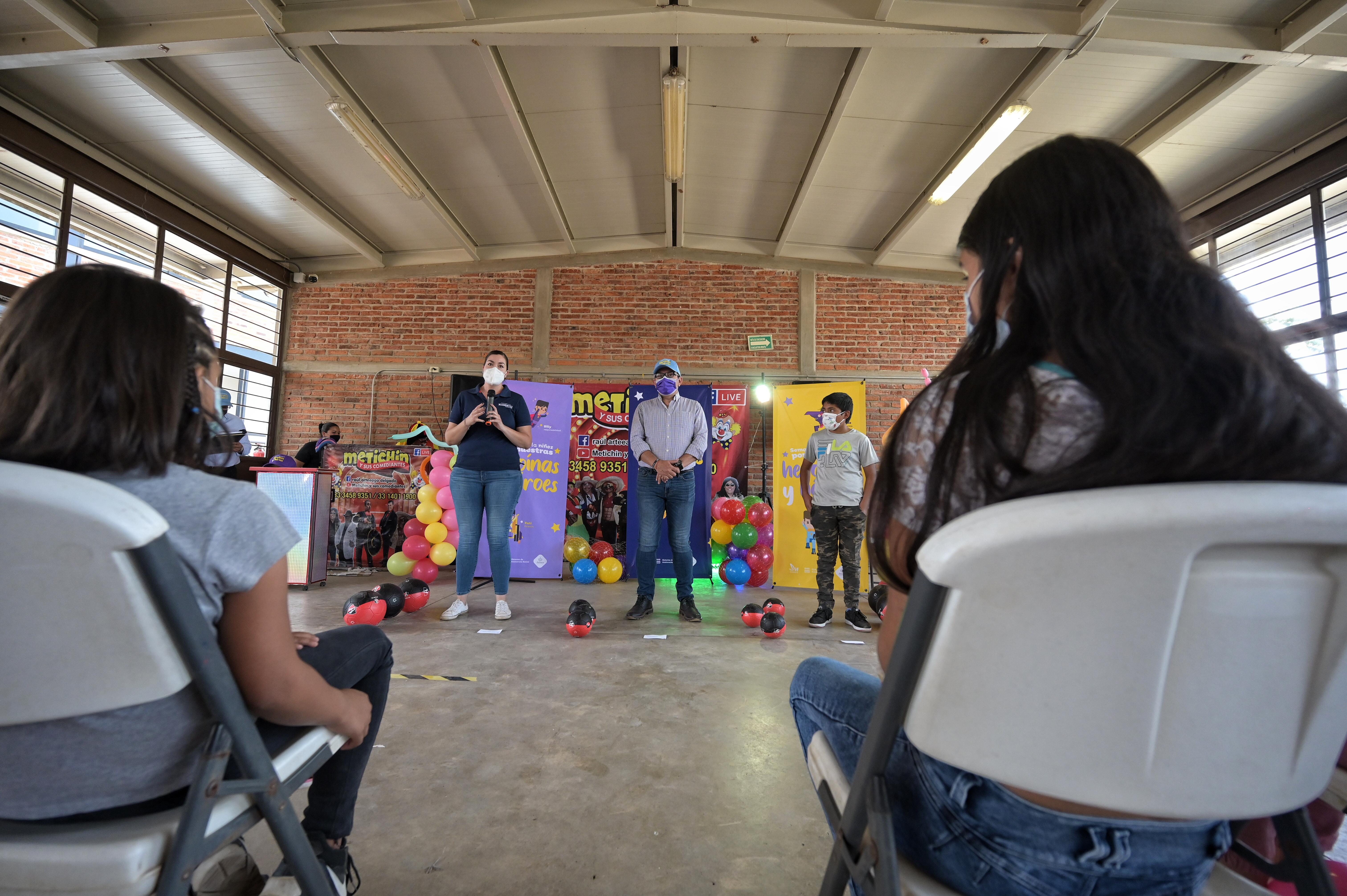 Celebran a la niñez atendida por comunidad Xamixtli