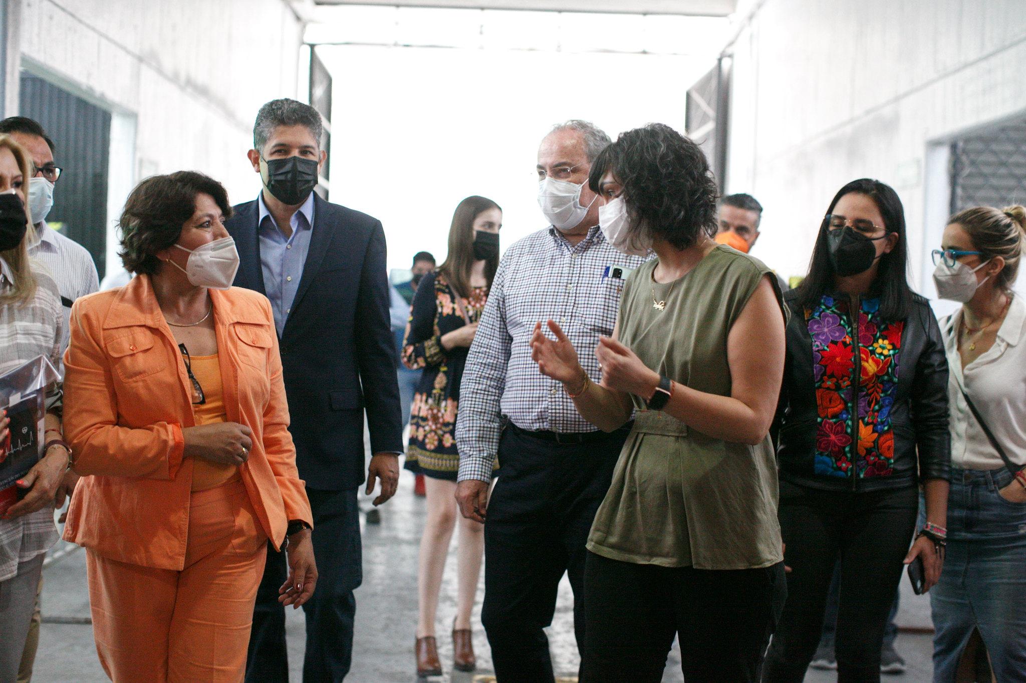 "Presenta SE ""Modelo Jalisco de vacunación"" a Delfina Gómez Álvarez"
