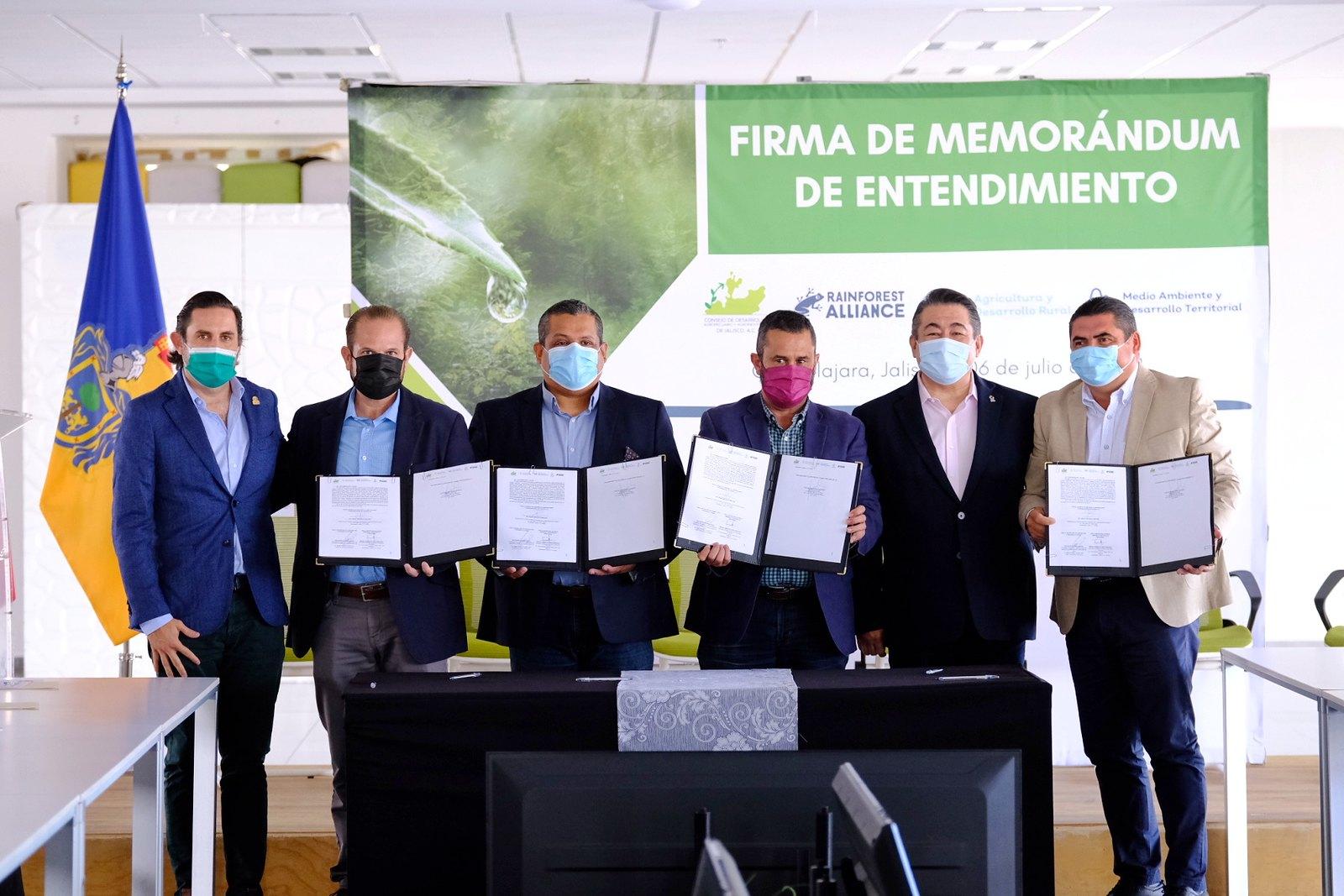 Participa Semadet y Sader en el Memorándum de Entendimiento  para impulsar la producción sustentable de Jalisco