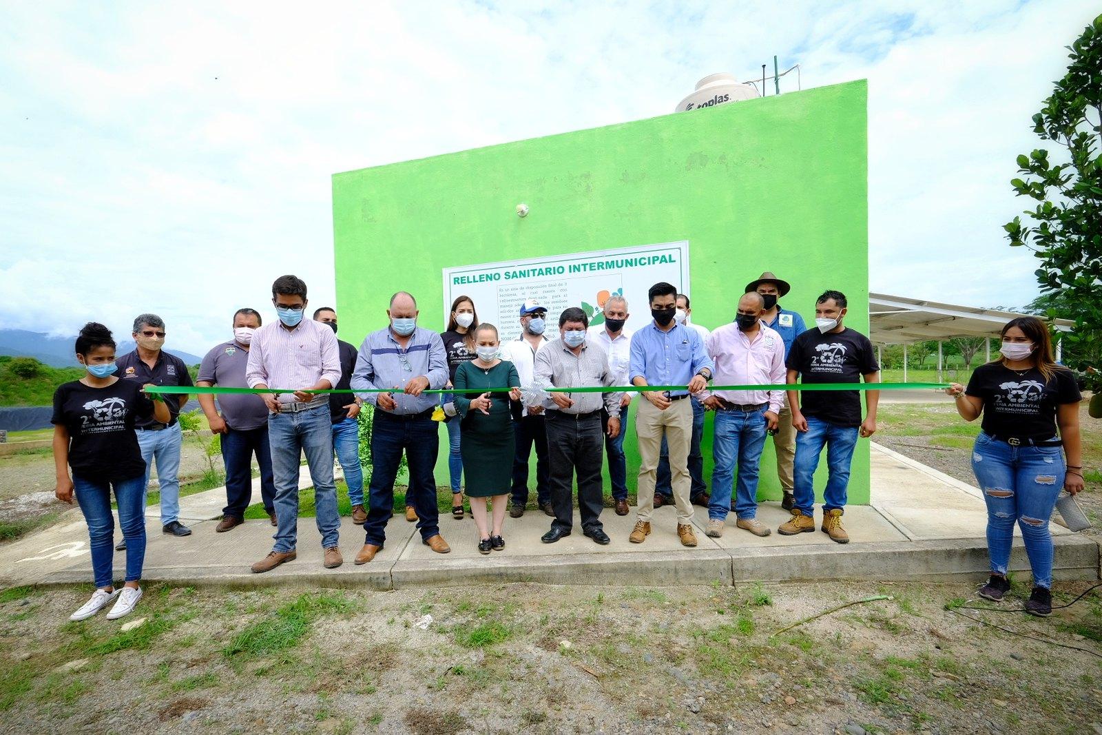 Inauguran relleno sanitario intermunicipal en la Costa Sur