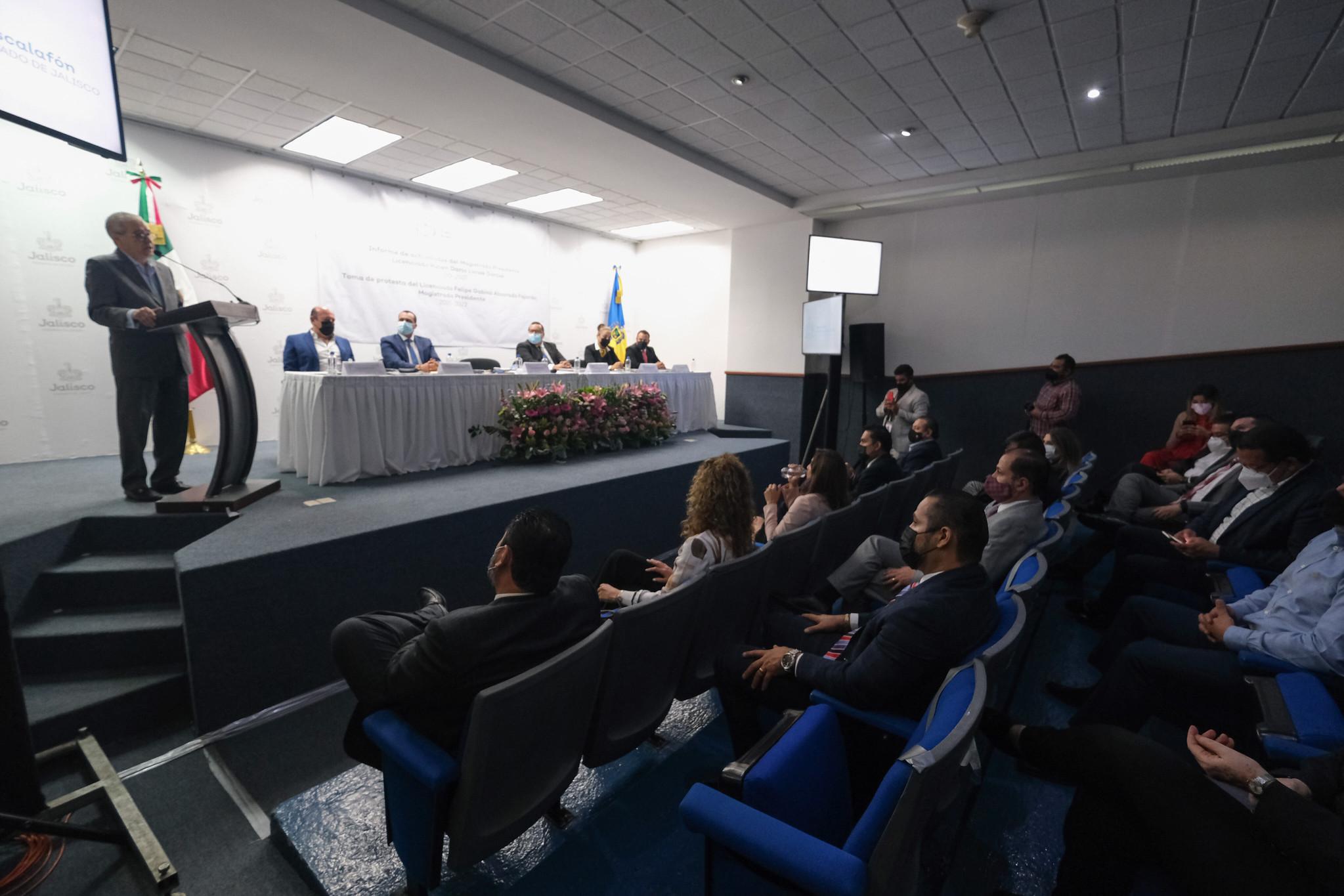 Secretario de Gobierno asiste al informe de actividades del Tribunal de Arbitraje y Escalafón de Jalisco