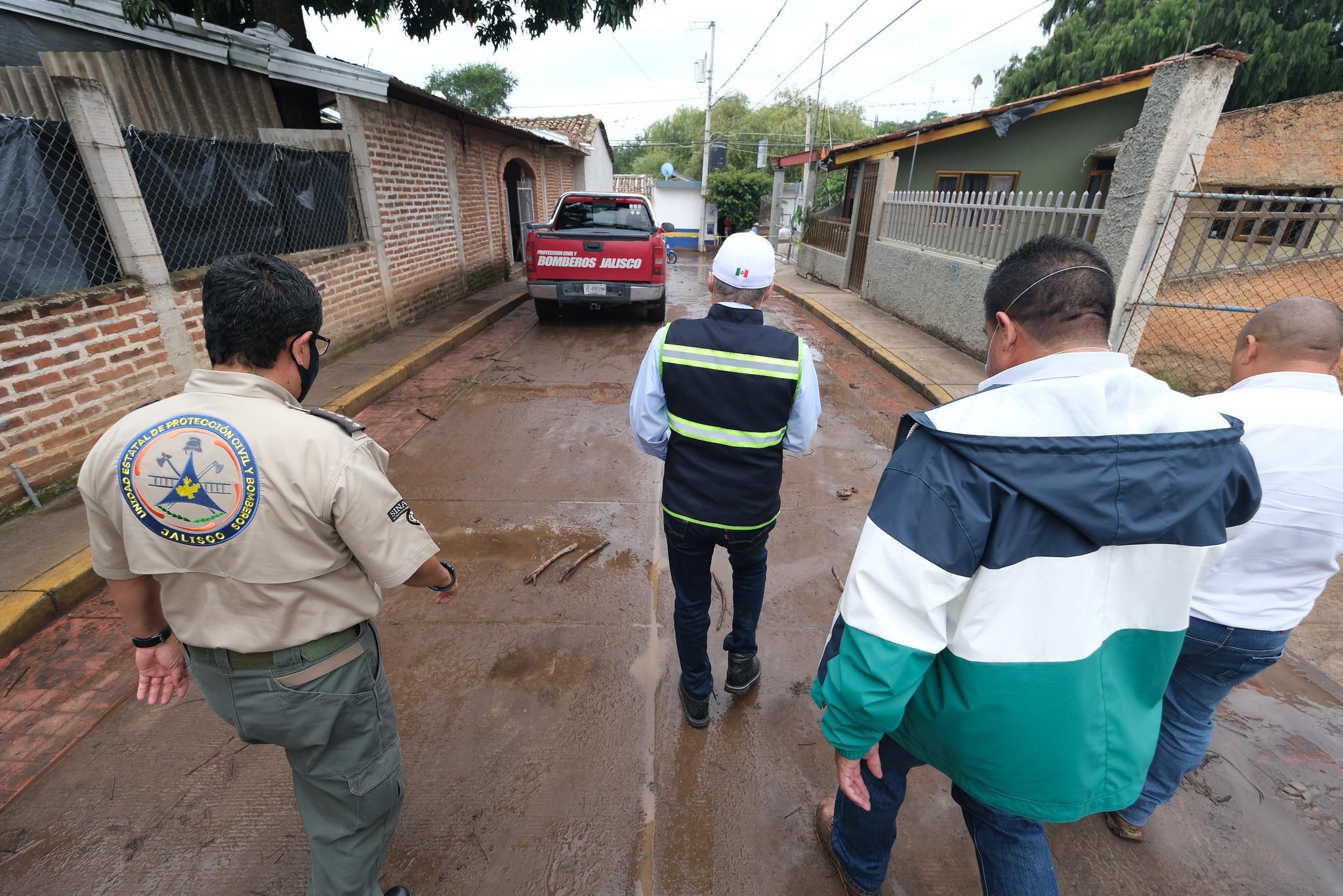 Autoridades de los tres niveles de gobierno trabajan en coordinación para apoyar a la población de Tizapán el Alto, Jalisco