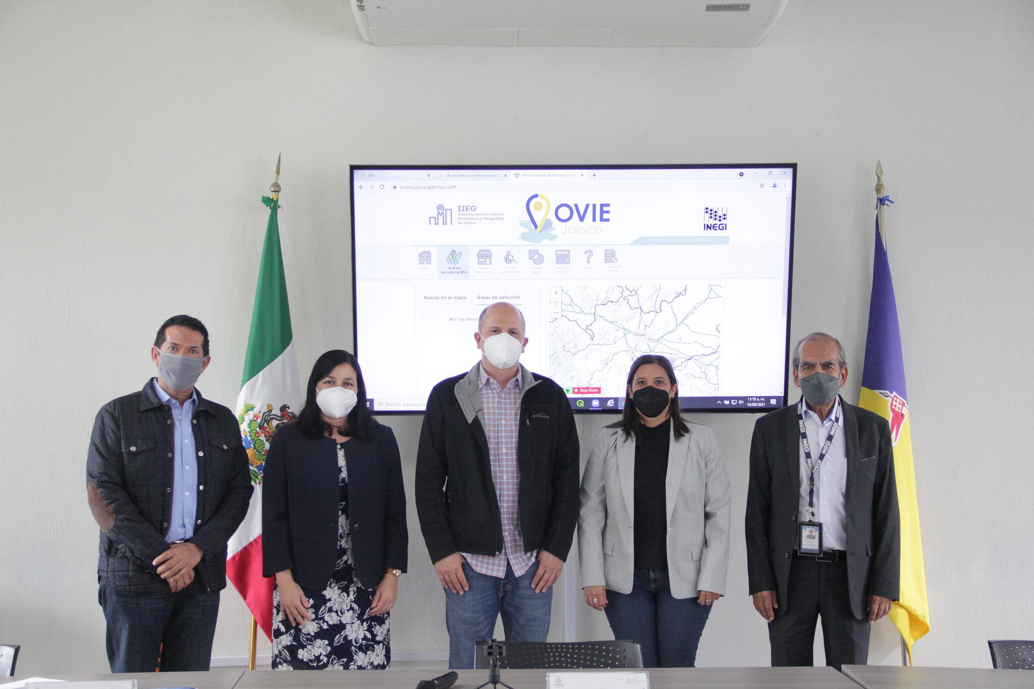 IIEG e INEGI presentan la Oficina Virtual de Información Económica (OVIE)