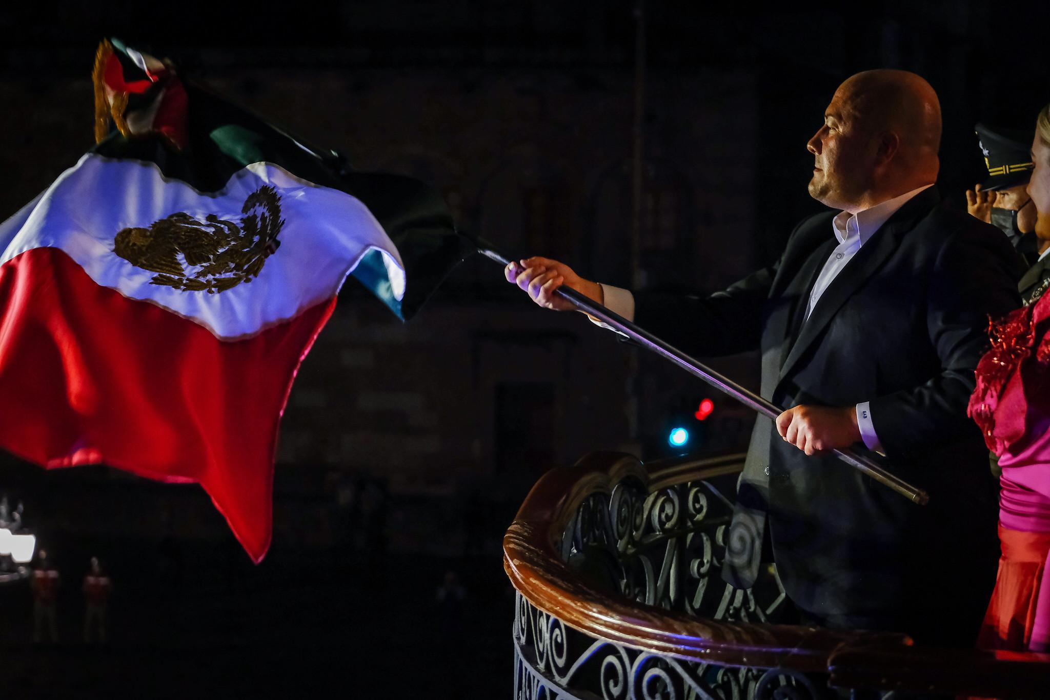 Enrique Alfaro da grito en Palacio; en su mensaje previo, destaca que este es un año de solidaridad y austeridad y que México nació en Jalisco