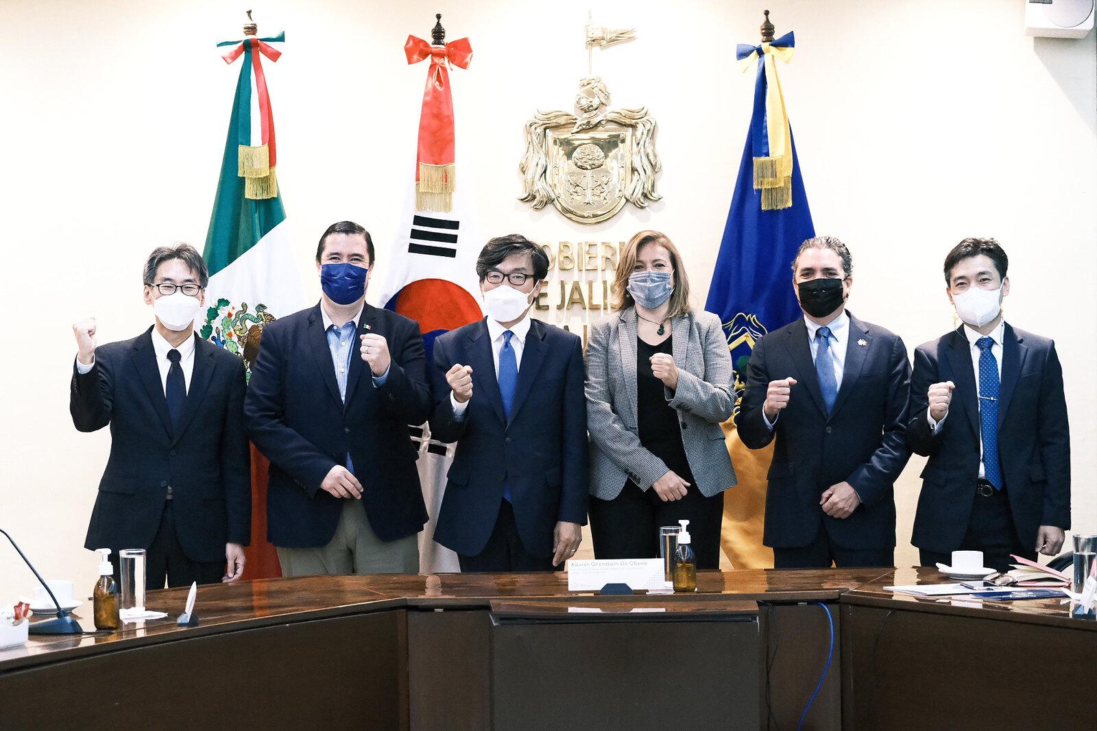 Gobierno de Jalisco y Corea estrechan lazos de amistad y económicos principalmente en materia tecnológica