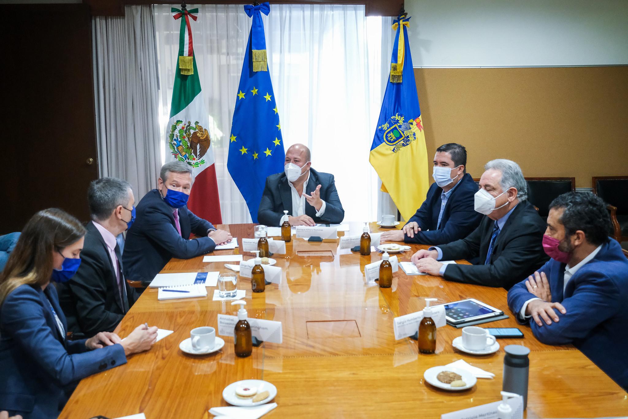 Gobernador de Jalisco se reúne con Embajador de la Unión Europea