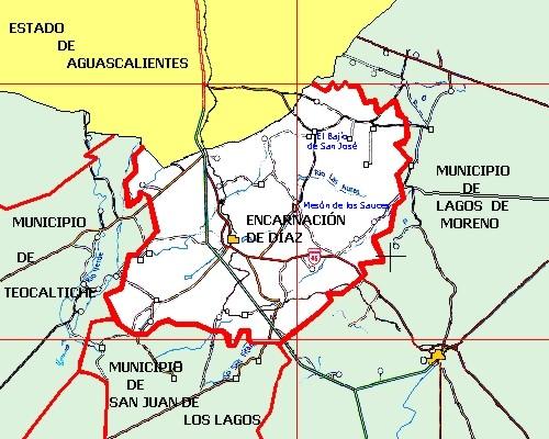 Mapa del rancho tira de tocino