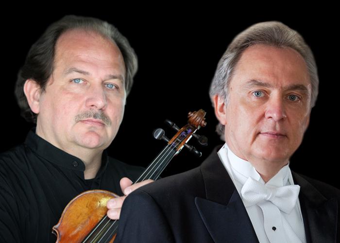 Fotografía de Kazimierz Olechowski (violín) y Josef Olechowski (piano)