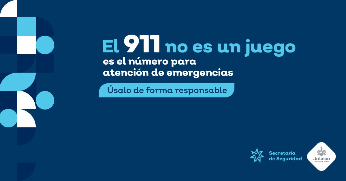 EL 911 ES UN NÚMERO SOLO PARA ATENCIÓN DE EMERGENCIAS