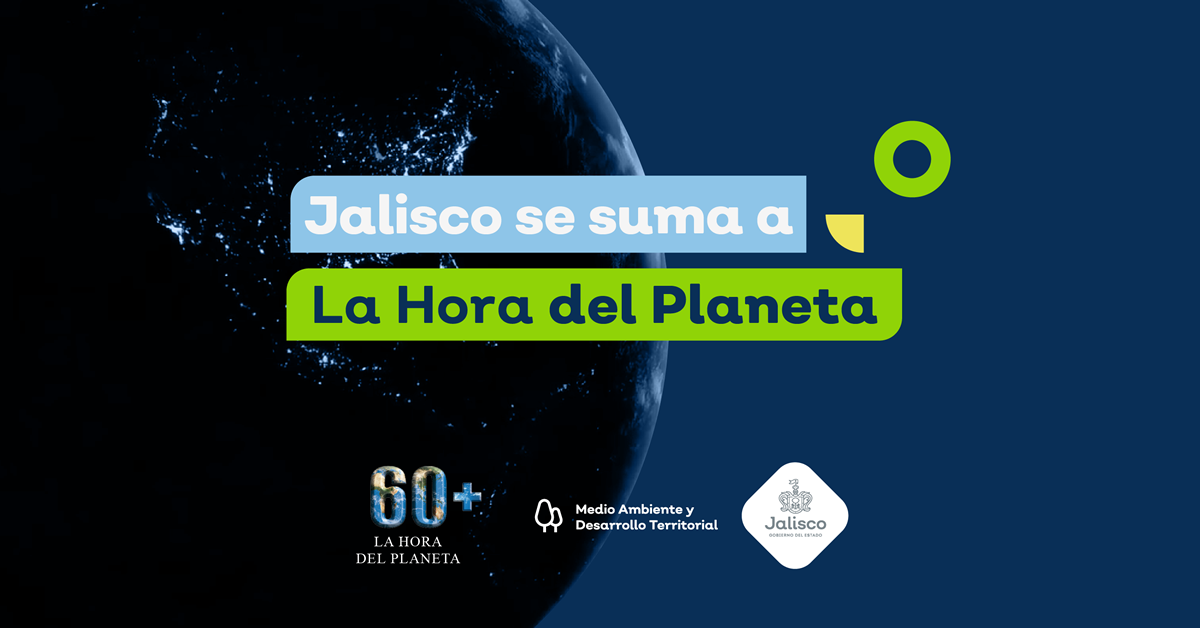 Jalisco se suma a la hora del Planeta