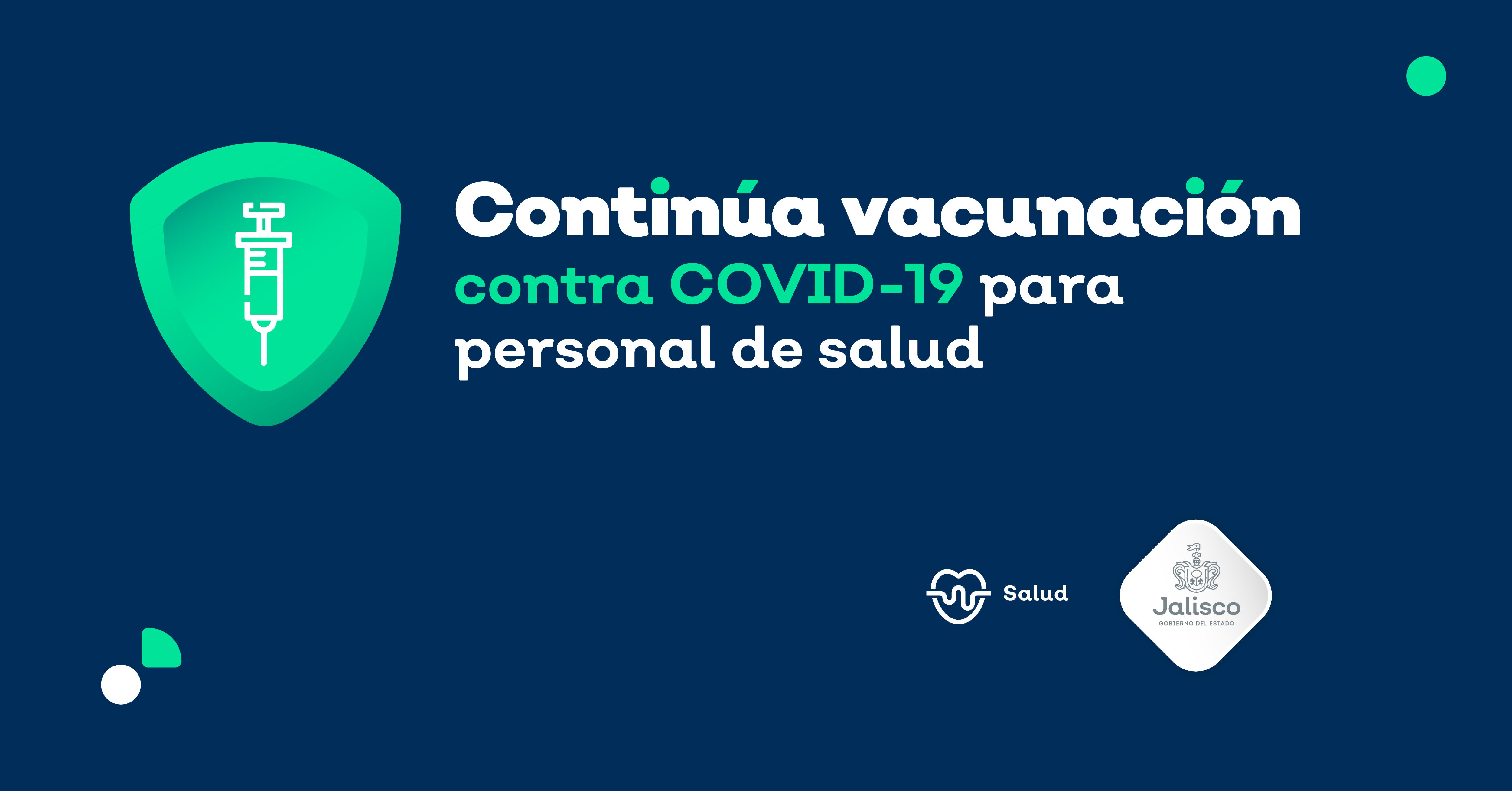 Vacunación contra COVID-19 a médicos, enfermeras, odontólogos.