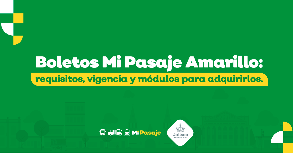 Boletos Mi Pasaje Amarillo: requisitos, vigencia y módulos para adquirirlos