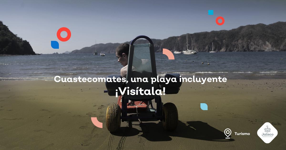 Cuastecomates, ¡una playa incluyente que recibe turistas de todo el mundo!