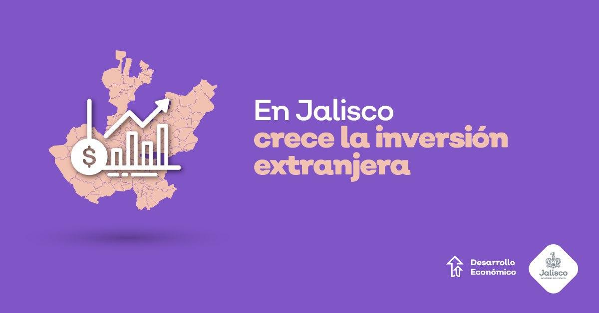 Crece 110% Inversión Extranjera Directa en Jalisco