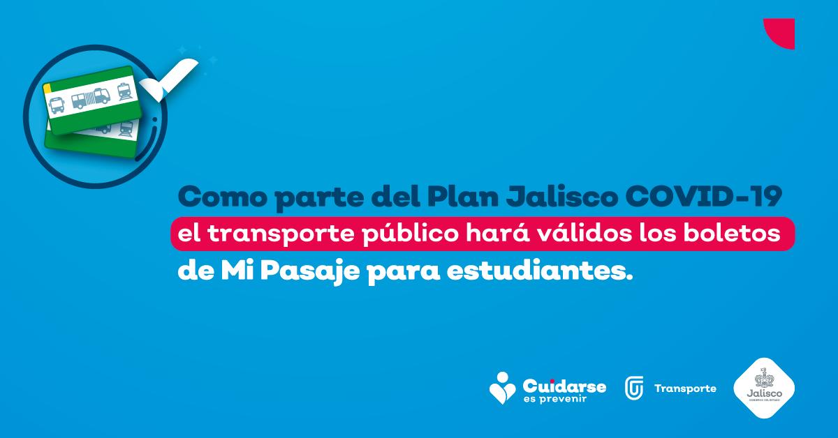 Durante la contingencia sanitaria de COVID-19, el transporte público hace válidos los boletos de Mi Pasaje para estudiantes.