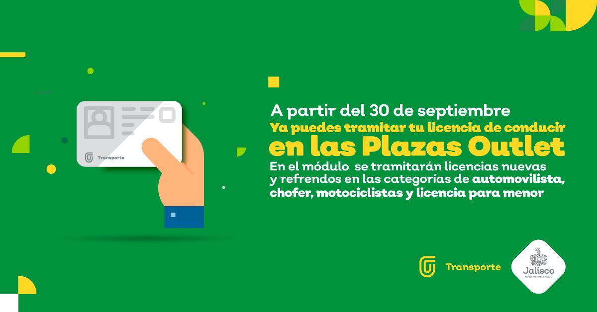 Tramita Tu Licencia En Las Plazas Outlet Gobierno Del