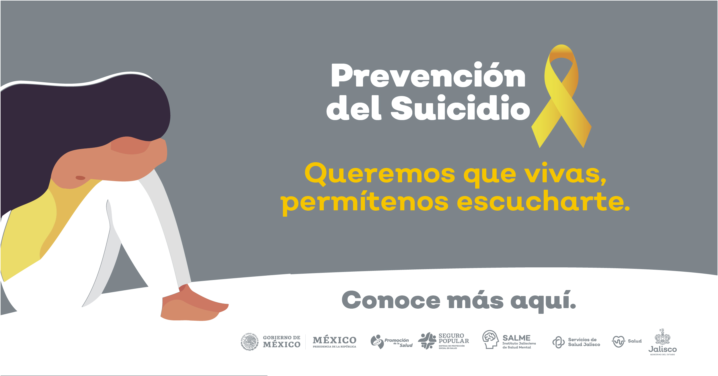 Prevención del Suicidio, Queremos que vivas, permítenos escucharte