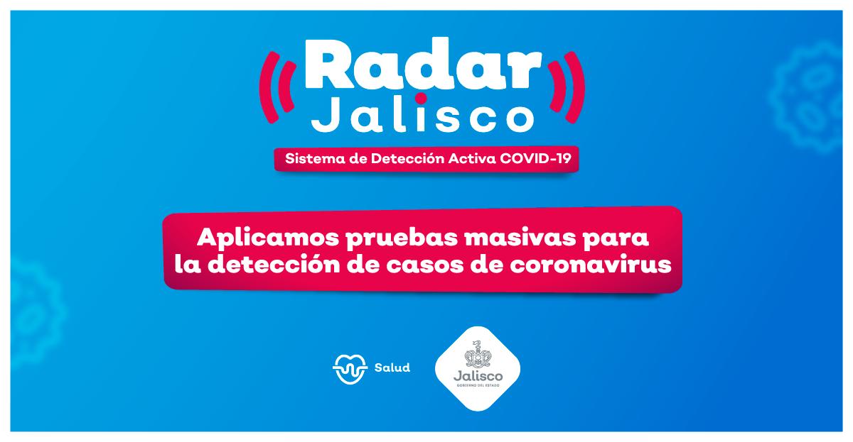 Jalisco aplicará más de 500 pruebas PCR diarias para detectar posibles casos de COVID-19