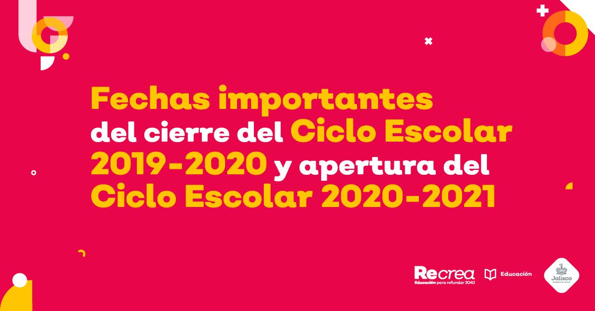 El 3 de julio concluye el Ciclo Escolar 2019-2020