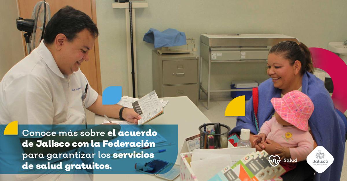 Jalisco y Federación acuerdan Convenio de Coordinación para garantizar gratuidad de los servicios de salud en la entidad