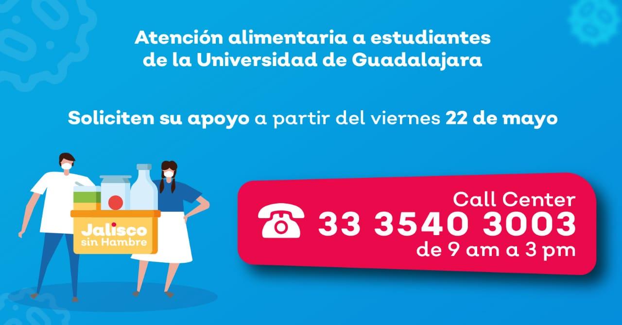 Atención alimentaria a estudiantes de la Universidad de Guadalajara