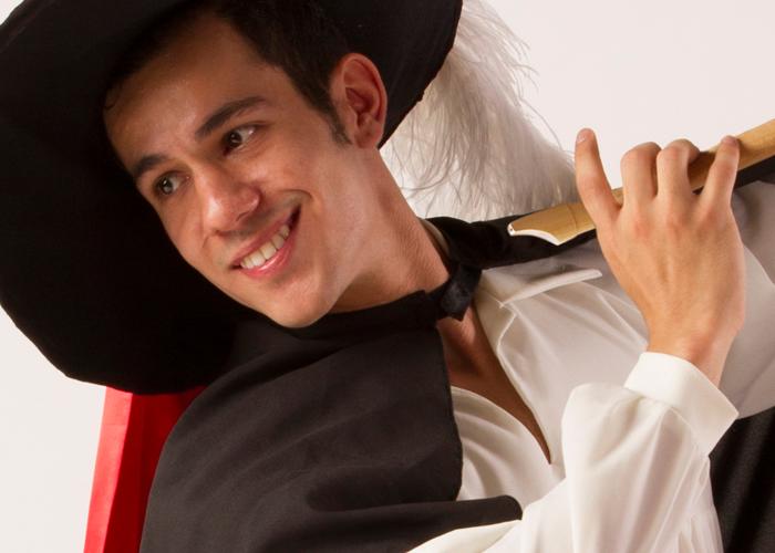 Fotografía del personaje del flautista de Hamelin.