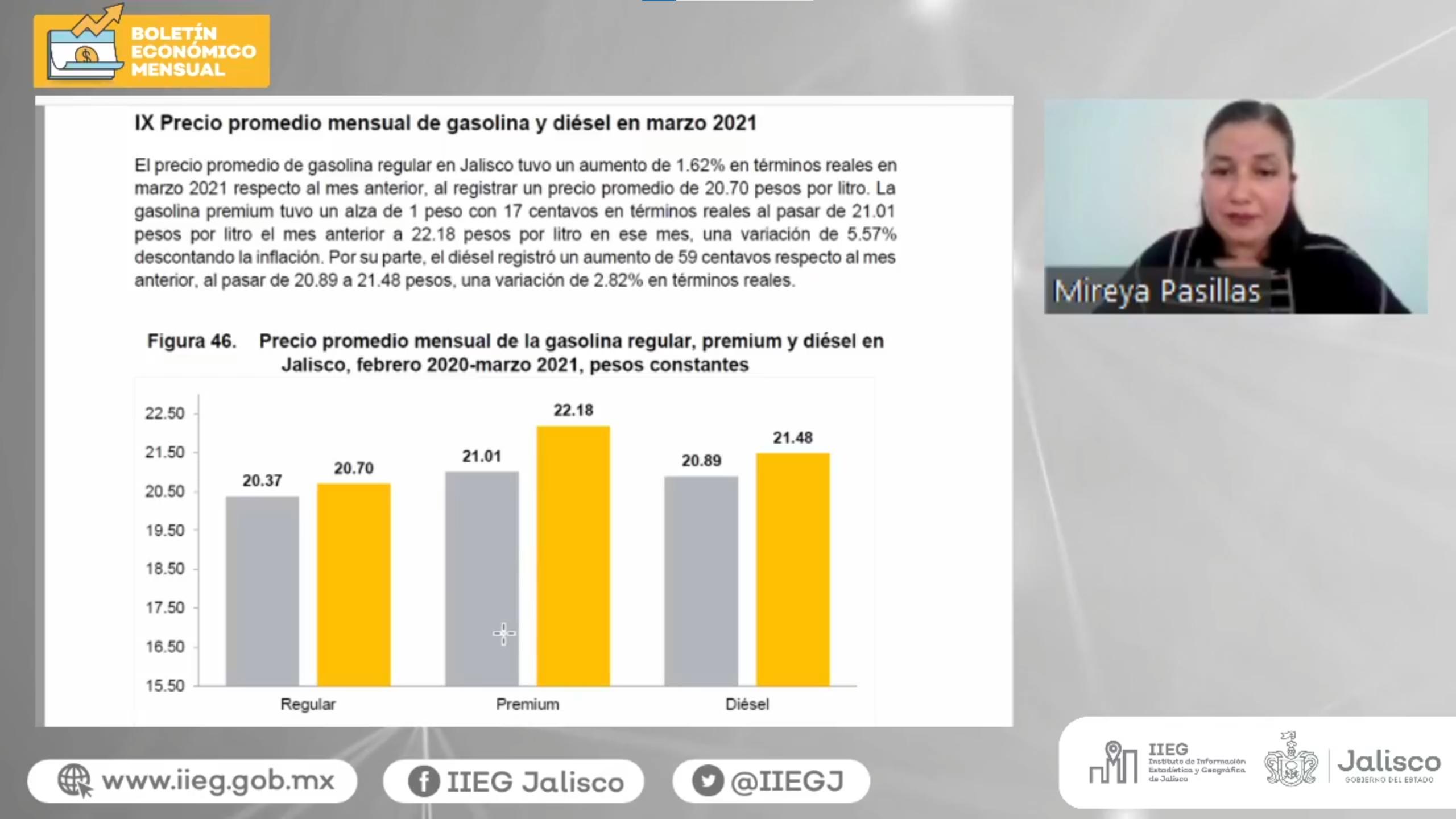 IIEG presenta Boletín Económico Mensual del mes de abril