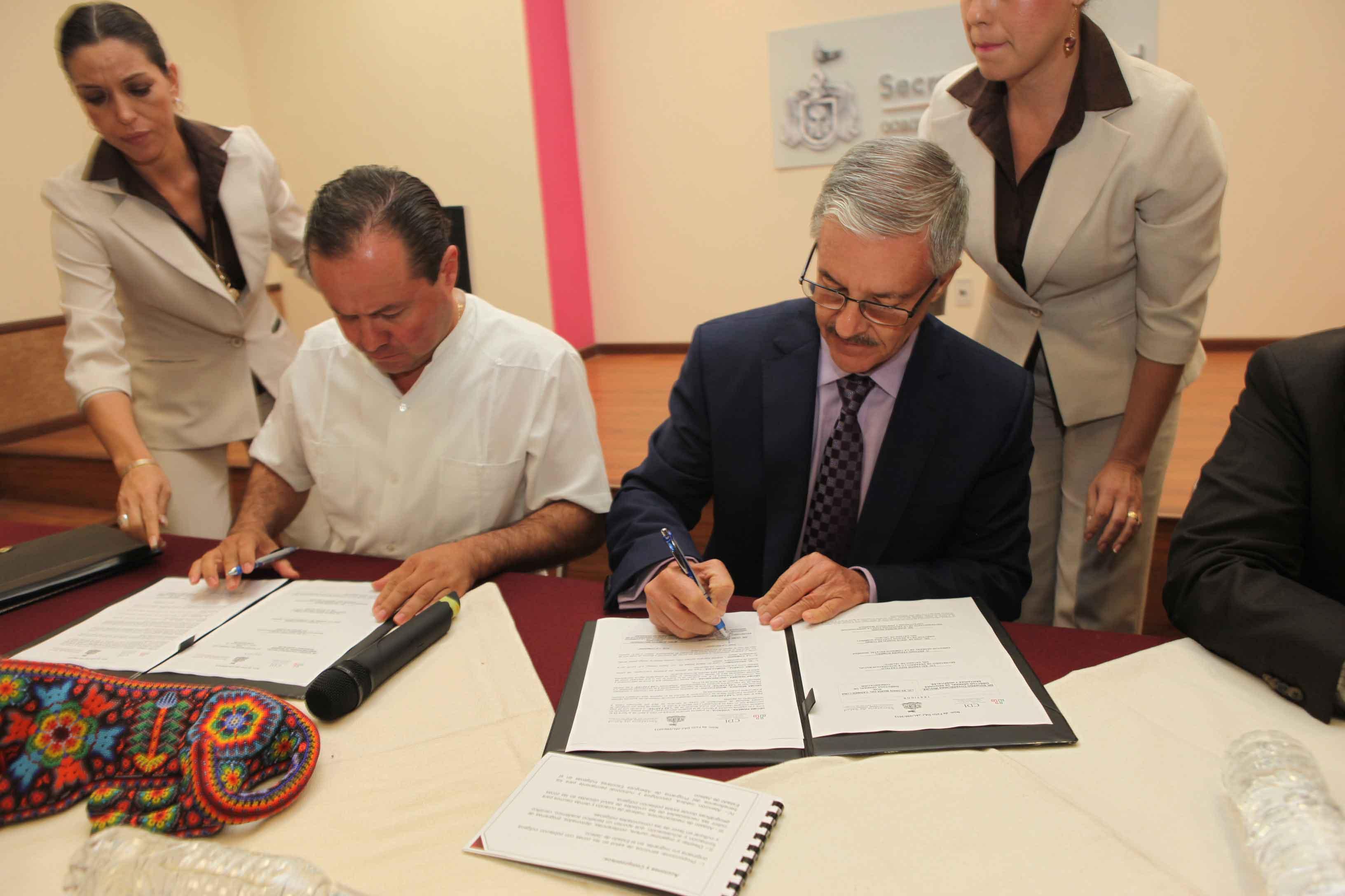 Firma SSJ convenio a favor de los pueblos indígenas en el estado