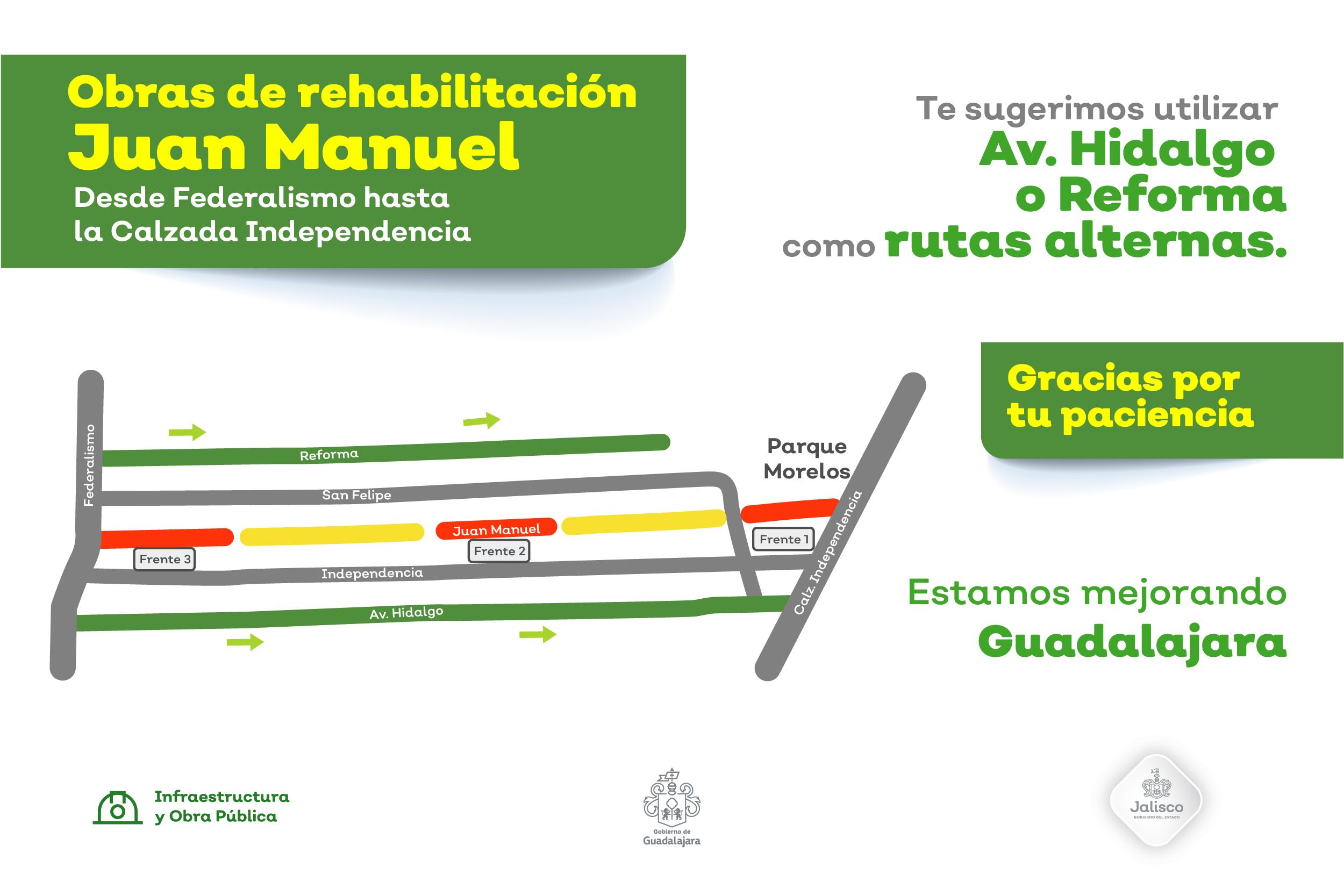 Inician dos nuevos frentes de trabajo para rehabilitar calles del AMG