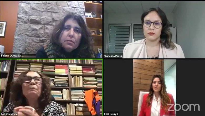 La titular de la SISEMH dialoga sobre igualdad de género en tiempos de COVID-19 con representantes de Costa Rica y Uruguay