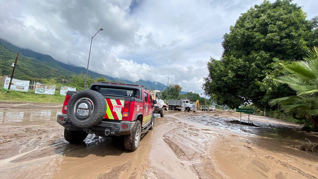 Autoridades de los tres niveles de gobierno trabajan en coordinación para apoyo de la población afectada por las lluvias de esta madrugada