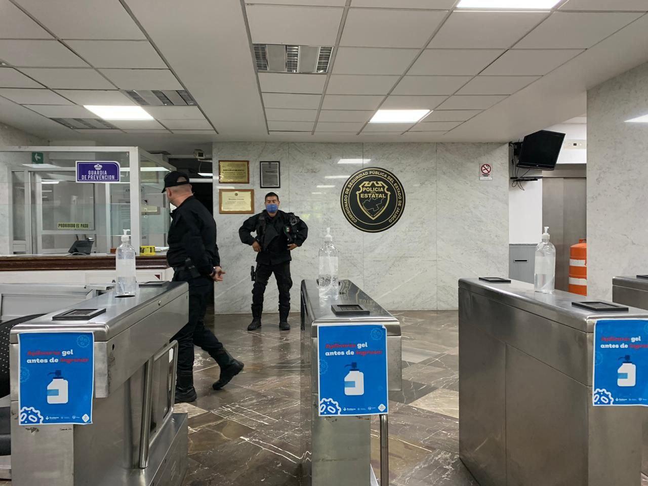 Implementa Secretaría de Seguridad revisión preventiva en sus oficinas centrales ante COVID-19