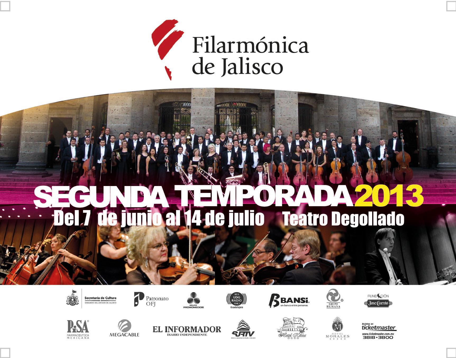II Temporada 2013 de la Orquesta Filarmónica de Jalisco