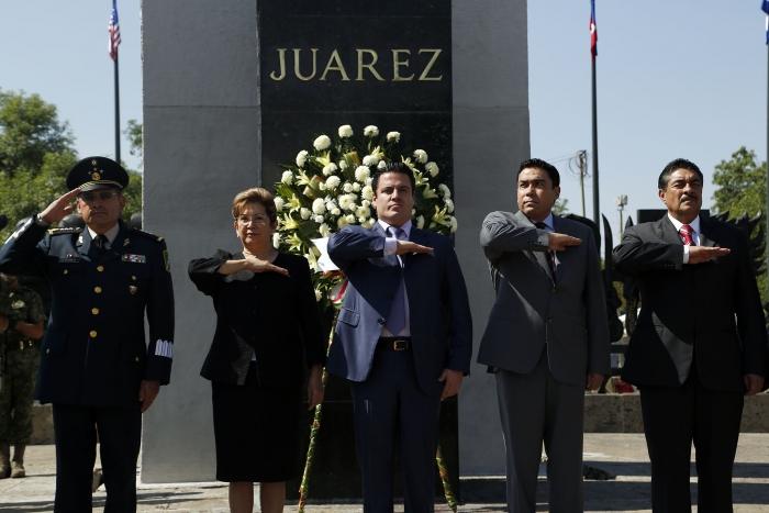 Evento conmemorativo a 207 años del natalicio de Juárez