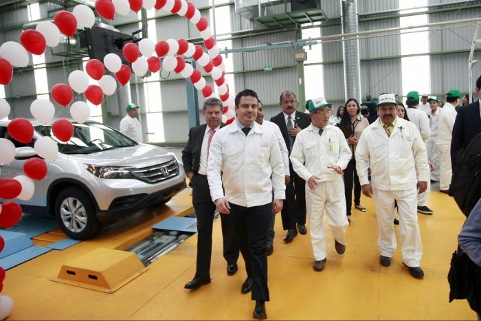 Inaugura Gobernador del Estado Aristóteles Sandoval la ampliación de la armadora Honda