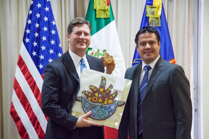 Imagen alusiva a la nota Se reúne Gobernador del Estado con el alcalde de Phoenix, Greg Stanton