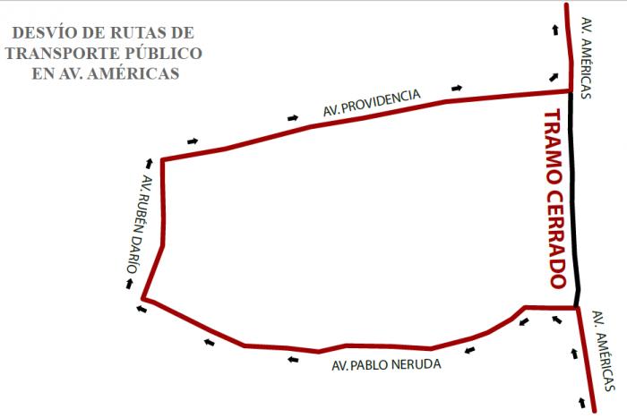 Imagen alusiva a la nota Anuncia la SEMOV rutas alternas por cierre total  en lateral de la avenida Américas