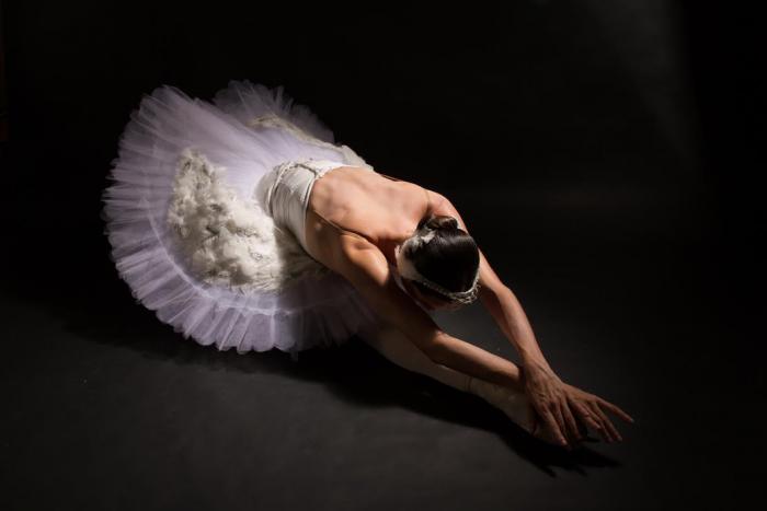 Fotografía de una bailarina de ballet.