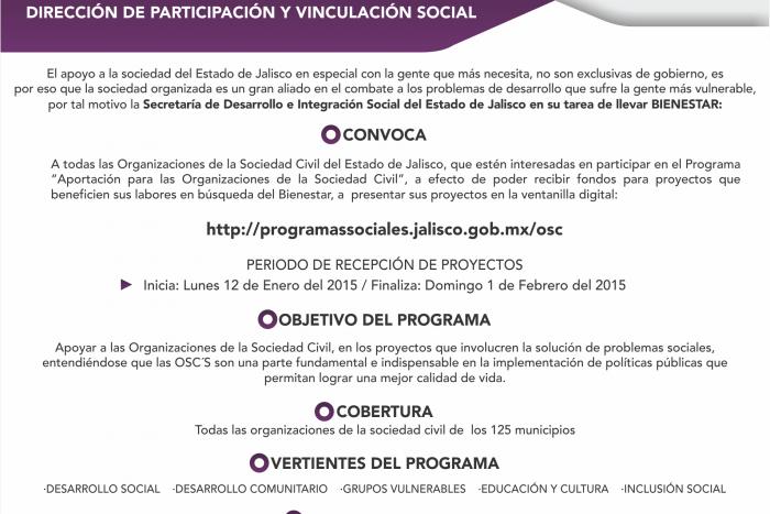 Imagen alusiva a la nota Invita la SEDIS a participar en programa para apoyar a las OSC