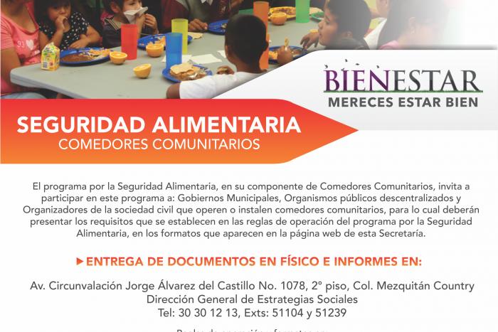 Imagen alusiva a la nota Invita la SEDIS a participar en la operación  o instalación de comedores comunitarios