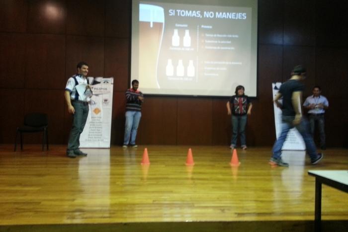 """Imagen alusiva a la nota """"Pilotos por la Seguridad Vial"""" concientiza a estudiantes sobre los efectos del alcohol"""