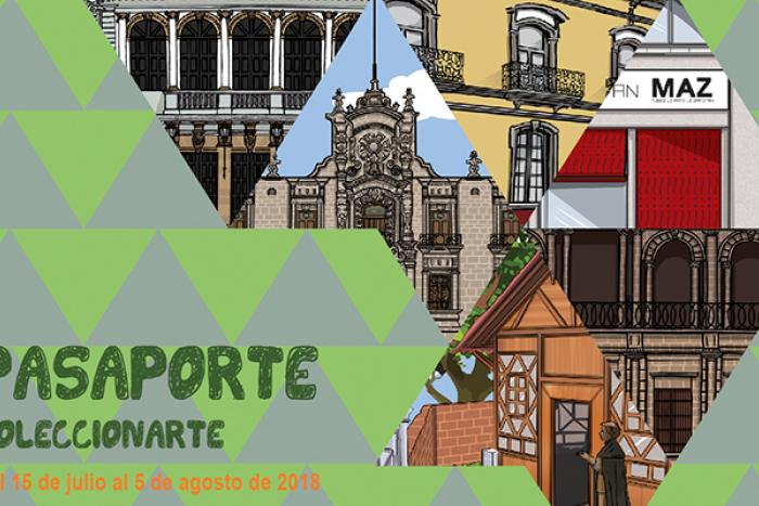 Imagen con varias ilustraciones de edificios culturales.