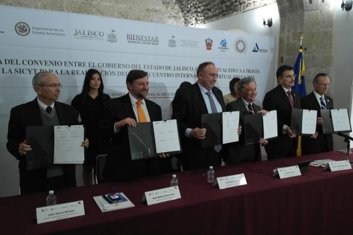 Imagen alusiva a la nota Firma Jalisco convenio con la OEA para ser sede Virtual Educa 2015