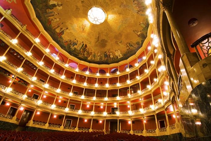 Fotografía del interior del teatro Degollado